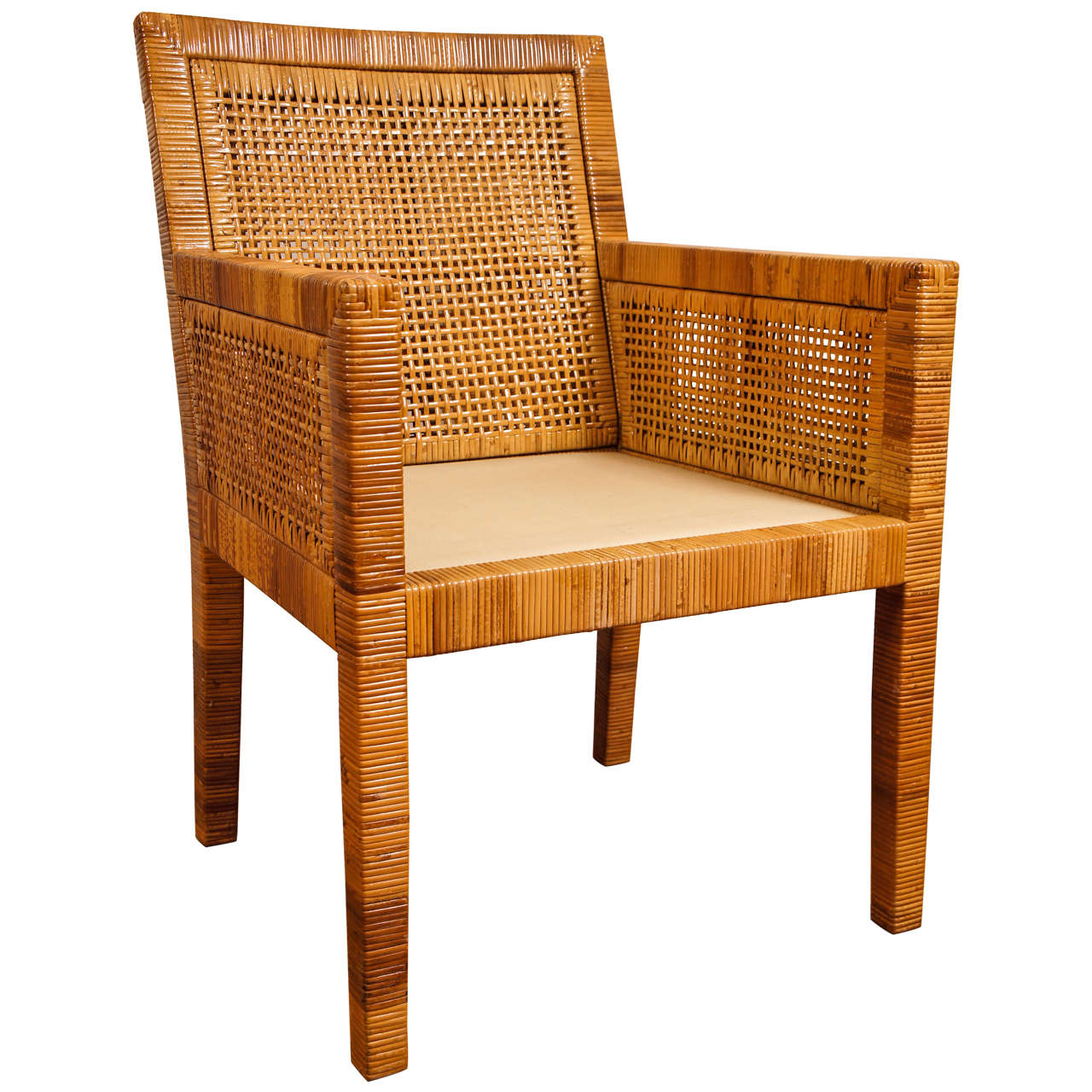 Rattan Dining Chair At 1stdibs