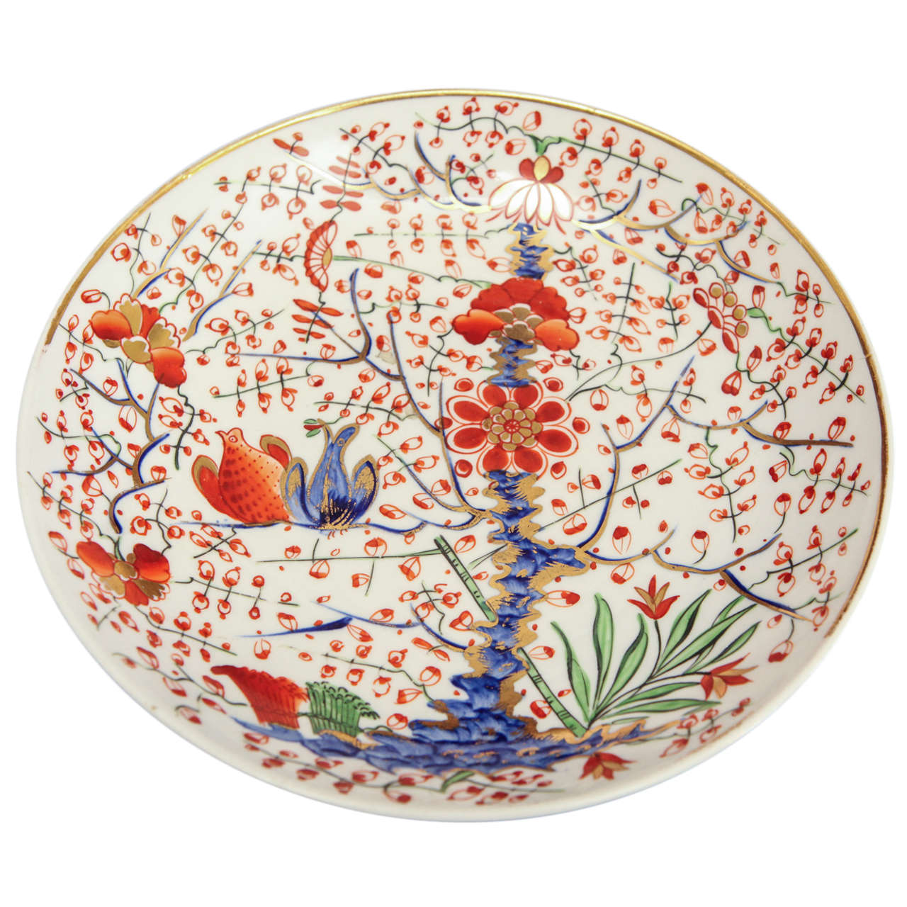 A Imari Pattern Plate With Derby Red Mark At 1stdibs