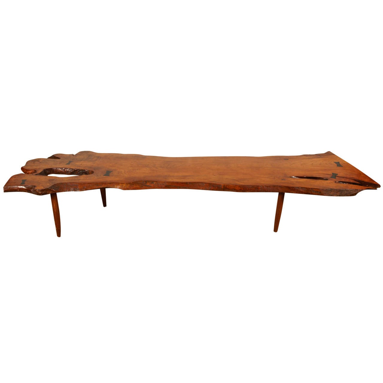 A Magnificent Coffee Table In The Taste Of George Nakashima