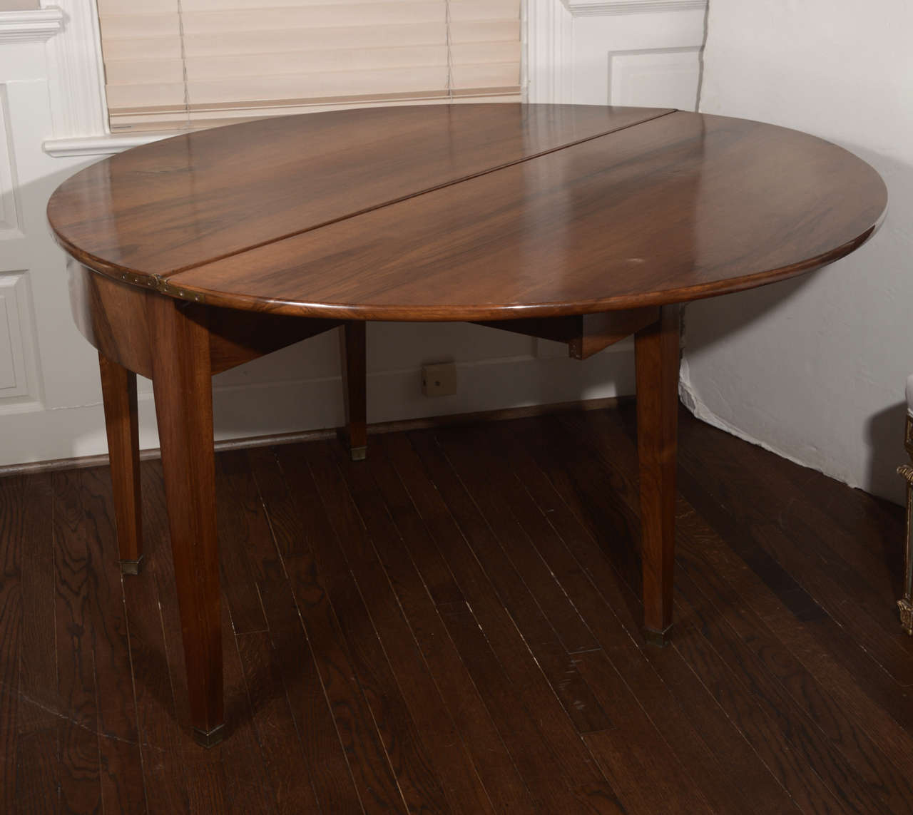 French directoire style demi lune table at 1stdibs - Table demi lune murale ...