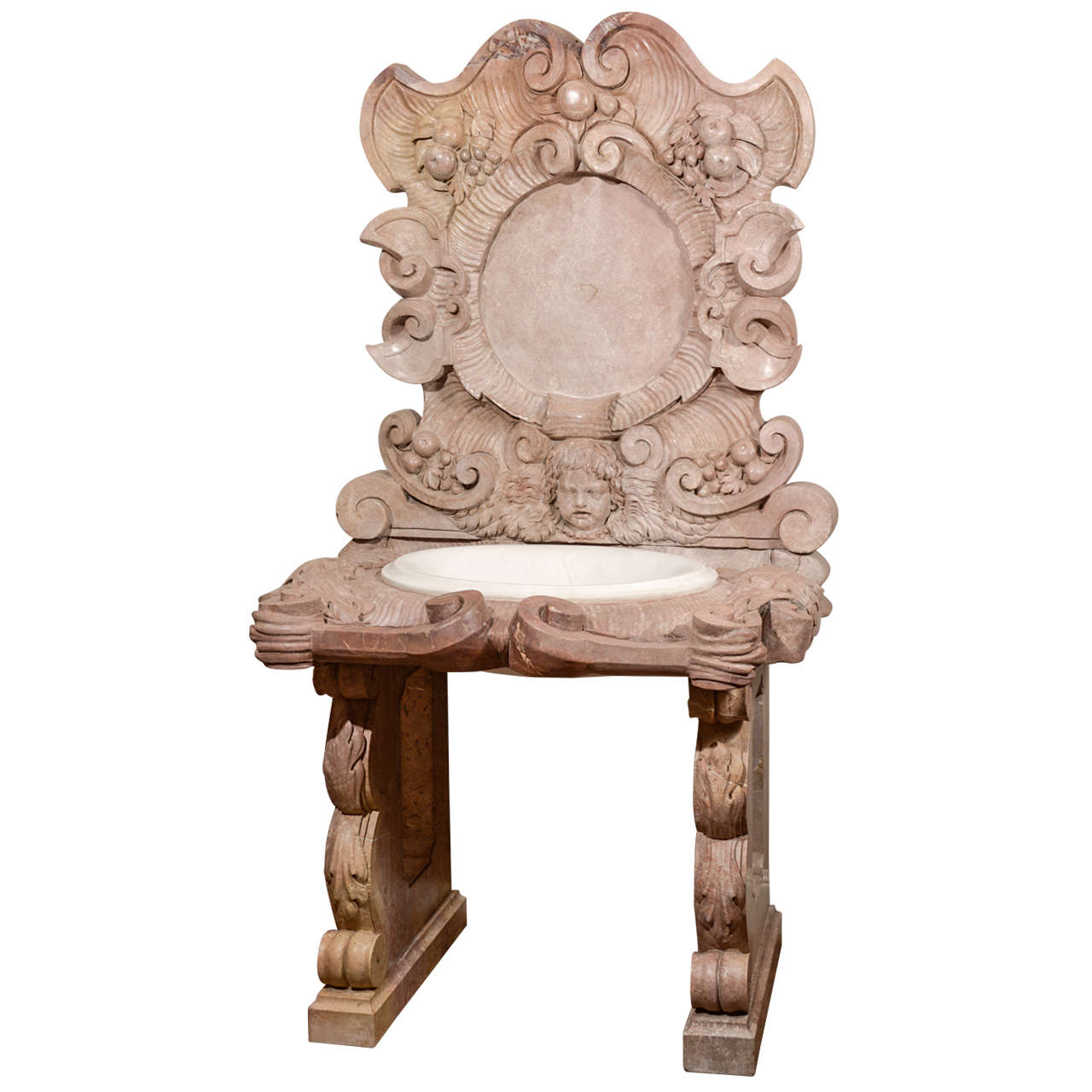 Carved Stone Sink : Italian Carved Marble Sink at 1stdibs