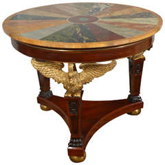 19th C  Empire Center Table