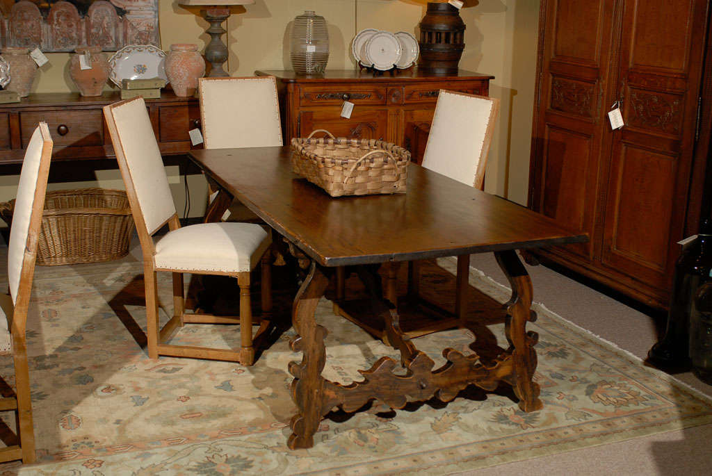 Vintage Spanish Style Dining Table At 1stdibs
