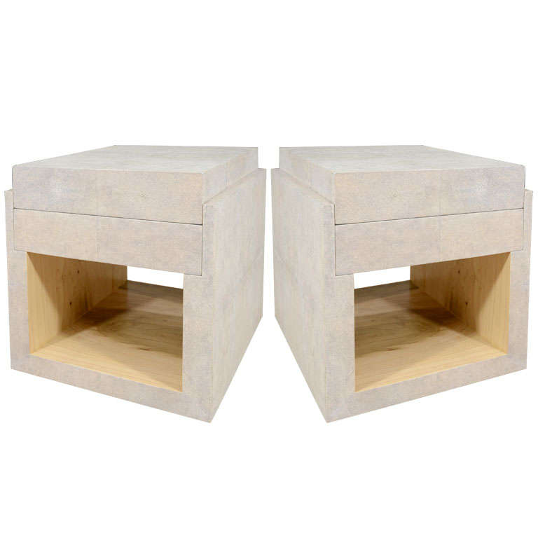 Shagreen Side Tables, Night Stands
