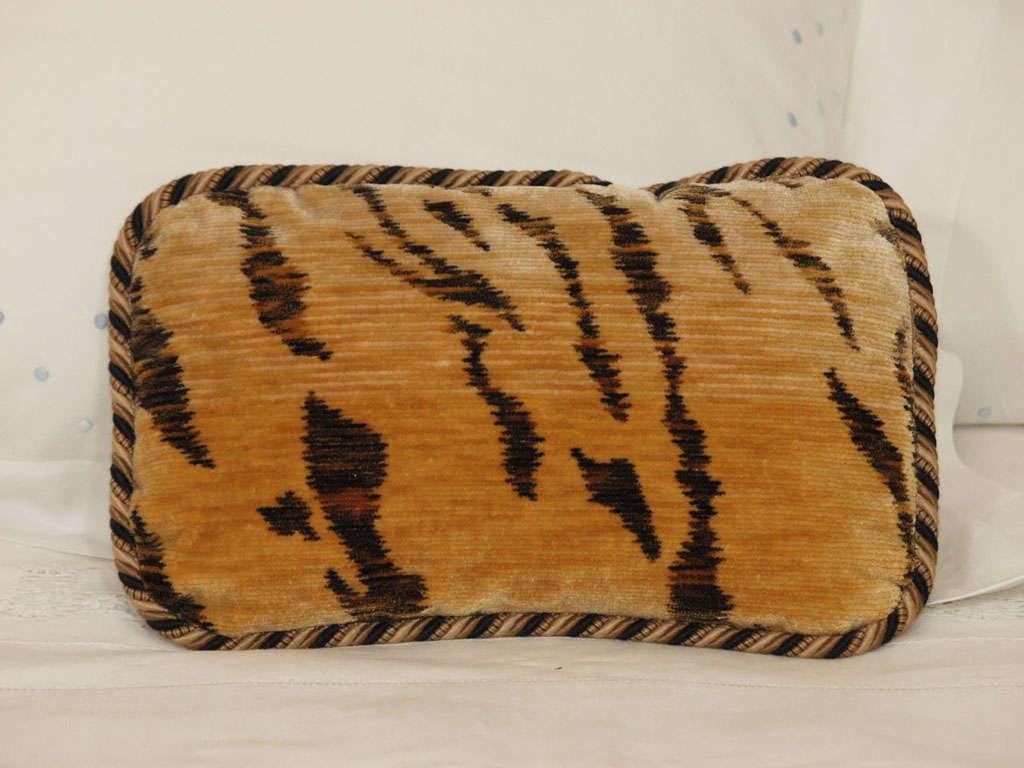 Tiger Silk Velvet Pillows At 1stdibs