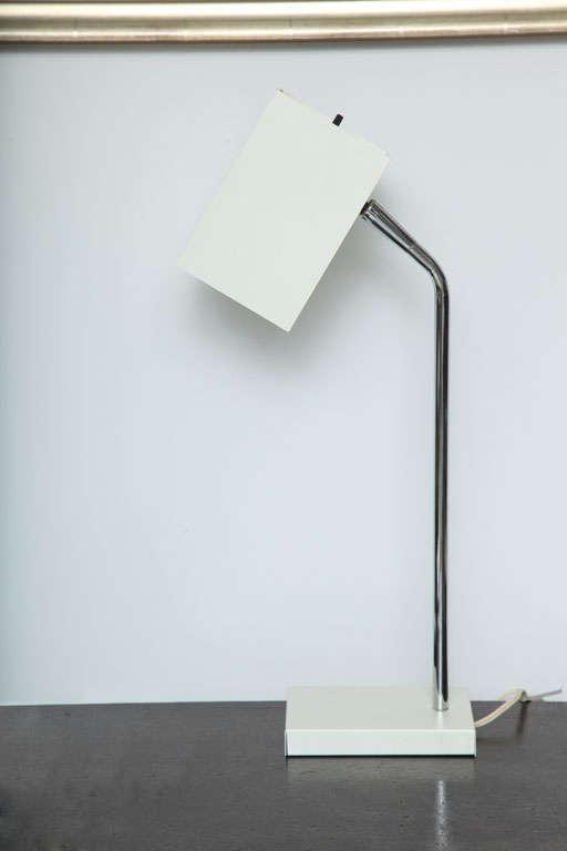 Cube White Desk Lamp By Robert Sonneman For Sale At 1stdibs