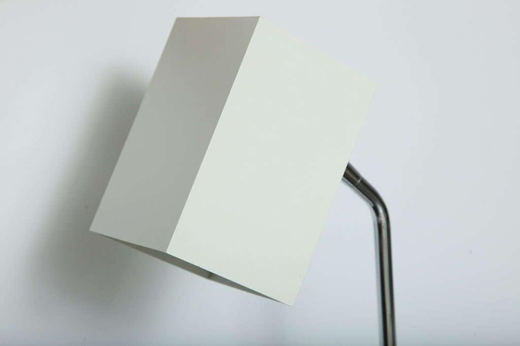 American Cube White Desk Lamp by Robert Sonneman For Sale
