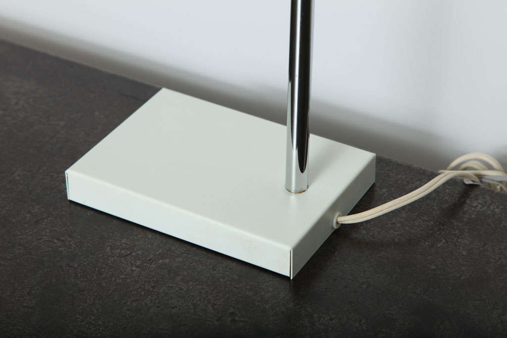 Late 20th Century Cube White Desk Lamp by Robert Sonneman For Sale