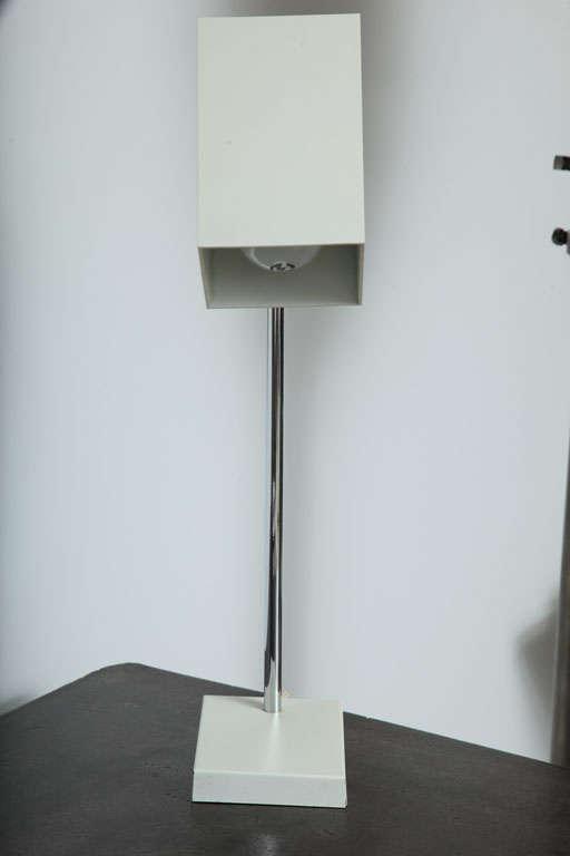 Cube White Desk Lamp by Robert Sonneman For Sale 1