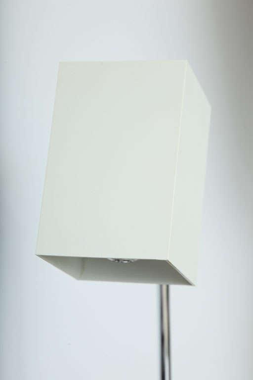 Cube White Desk Lamp by Robert Sonneman For Sale 2