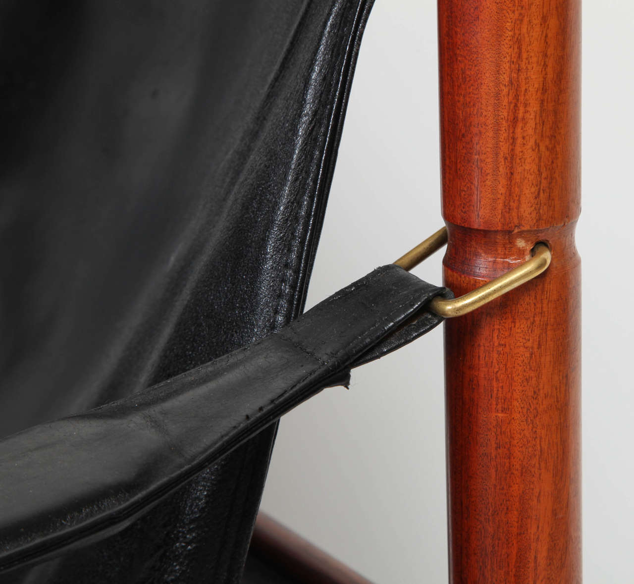 Danish Rosewood and Black Leather Armchair by Erik Worts For Sale 1