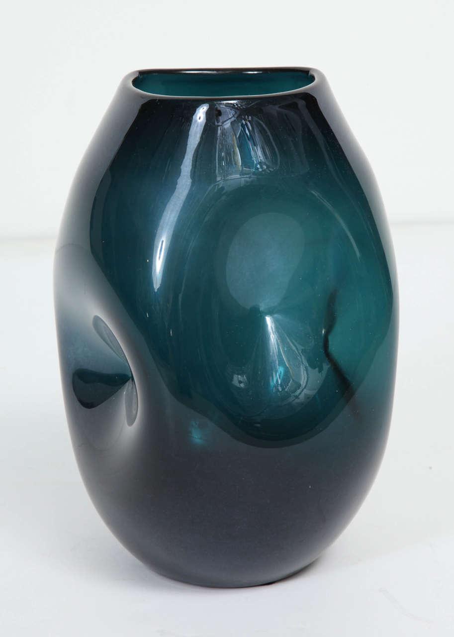 Mid-Century Modern Empoli Jade Green Glass Vase For Sale