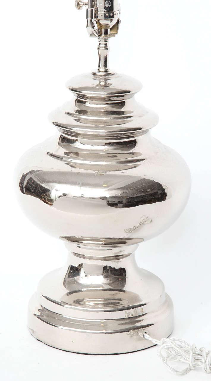 Bitossi Platinum Glazed Ceramic Lamps For Sale 1