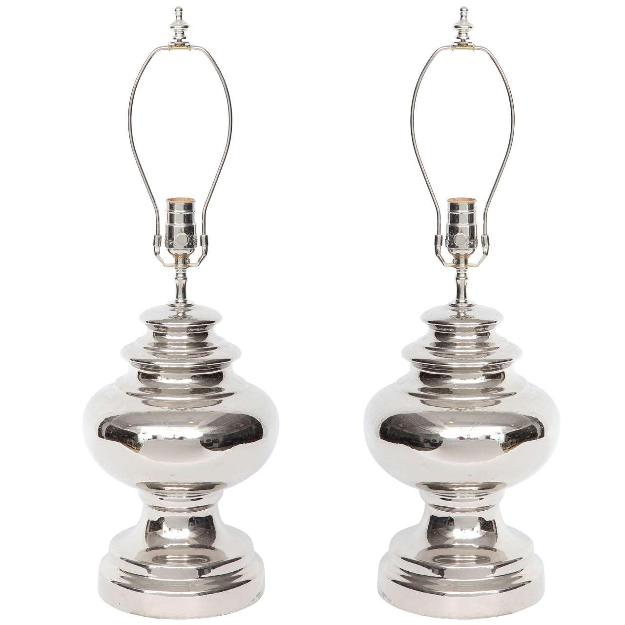 Bitossi Platinum Glazed Ceramic Lamps