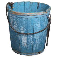 Oversize Wooden Container in Blue