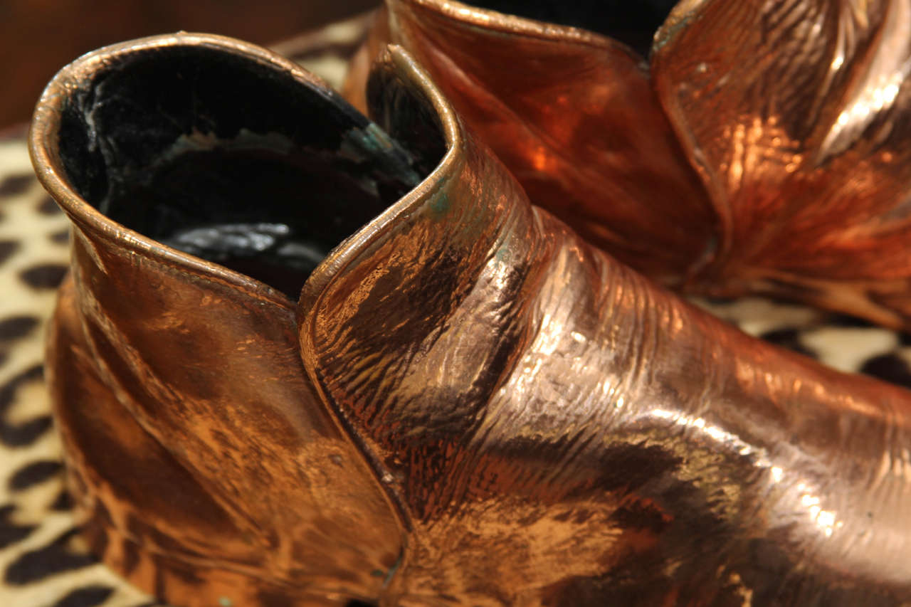 Copper Boots In Distressed Condition For Sale In Seattle, WA