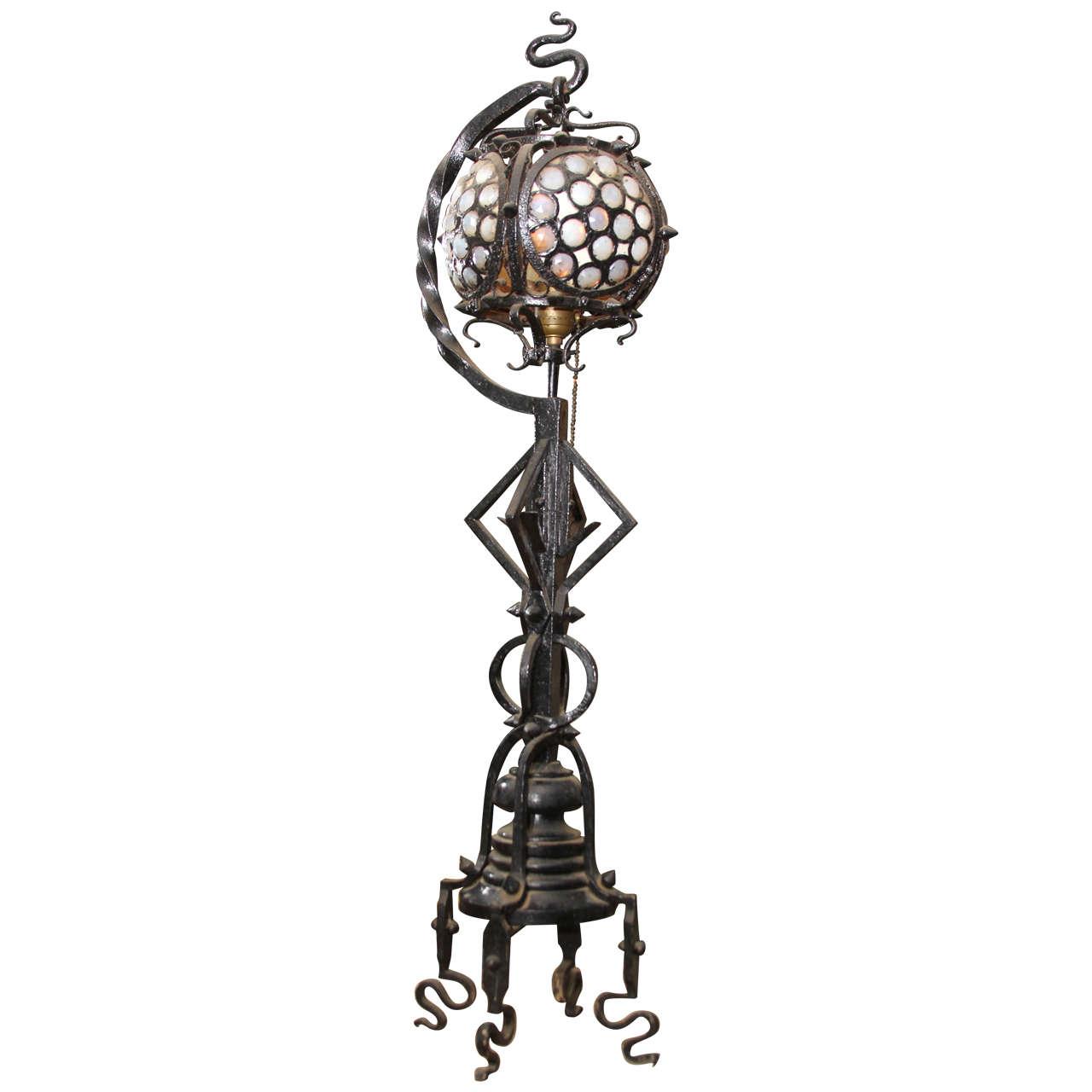Hand wrought arts and craft table lamp at 1stdibs hand wrought arts craft table lamp for sale aloadofball Choice Image