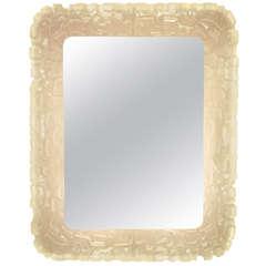 1960s Rare Italian Back-Lit Mirror