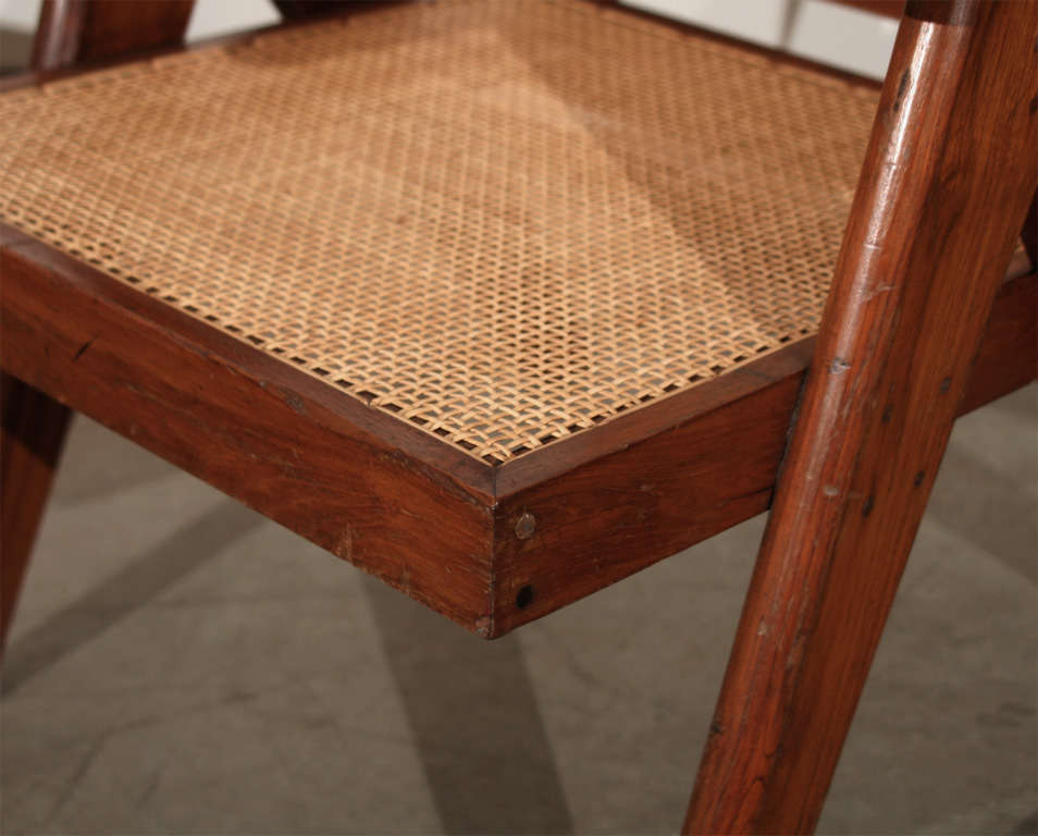 Indian Pair of Arm Chairs by Pierre Jeanneret For Sale
