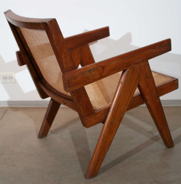 Pair of Arm Chairs by Pierre Jeanneret For Sale 1