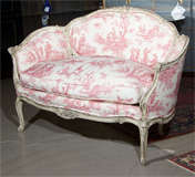 French Louis XV Style Settee Stamped Jansen image 2