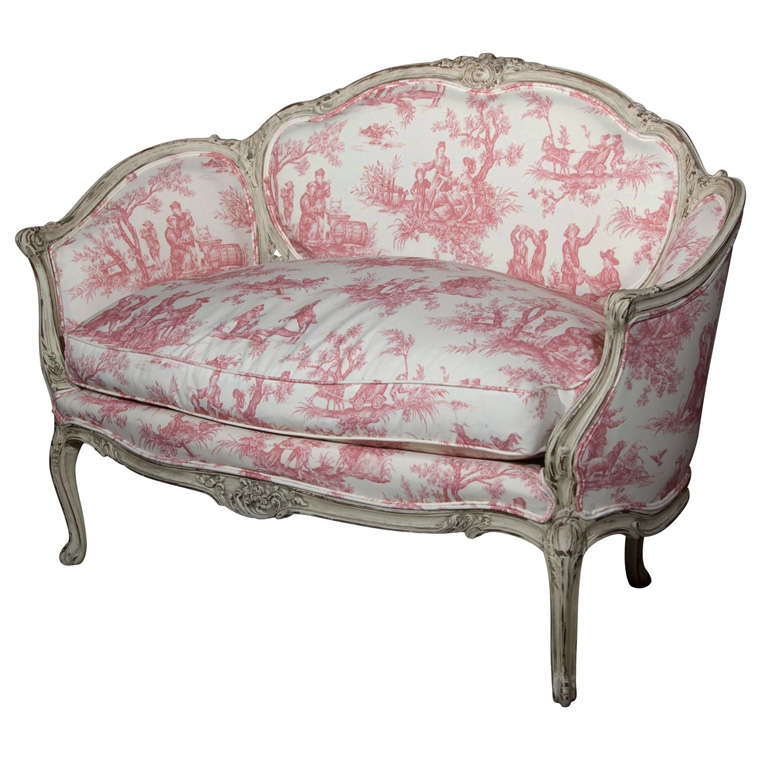 French Louis XV Style Settee Stamped Jansen