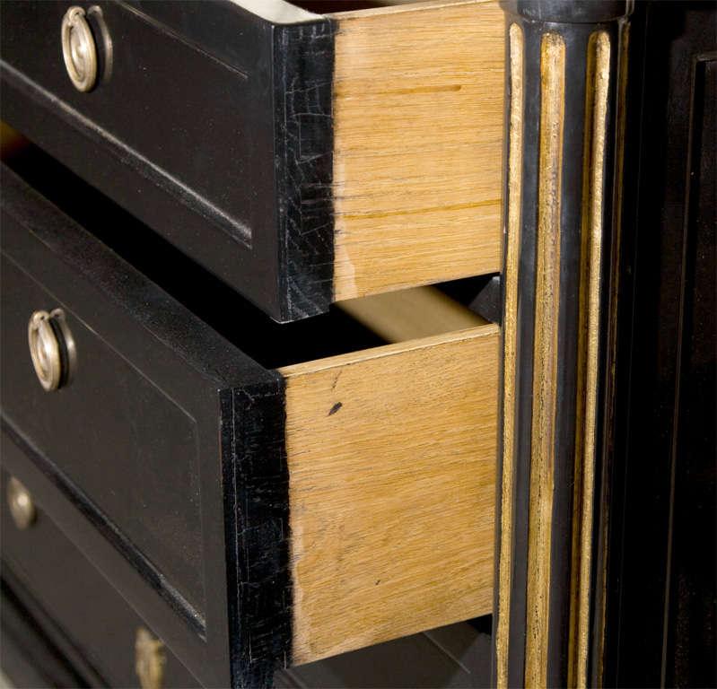 ebonized commode stamped jansen paris at 1stdibs. Black Bedroom Furniture Sets. Home Design Ideas
