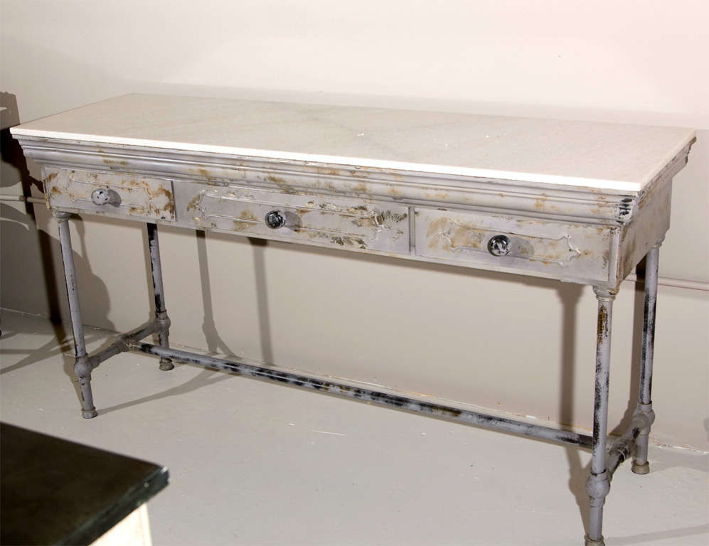 metal console table with drawer drawers industrial marble top wood and uk