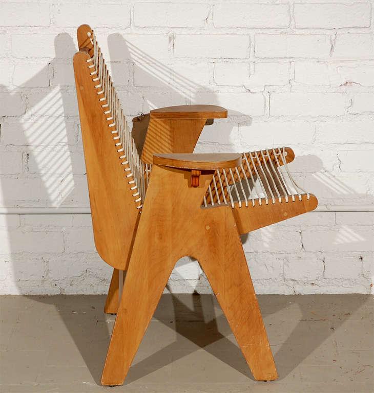 Vintage Klaus Grabe Style Rope Armchair At 1stdibs