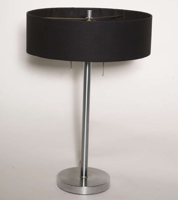 Pair of Steel Bedside Table Lamps 2