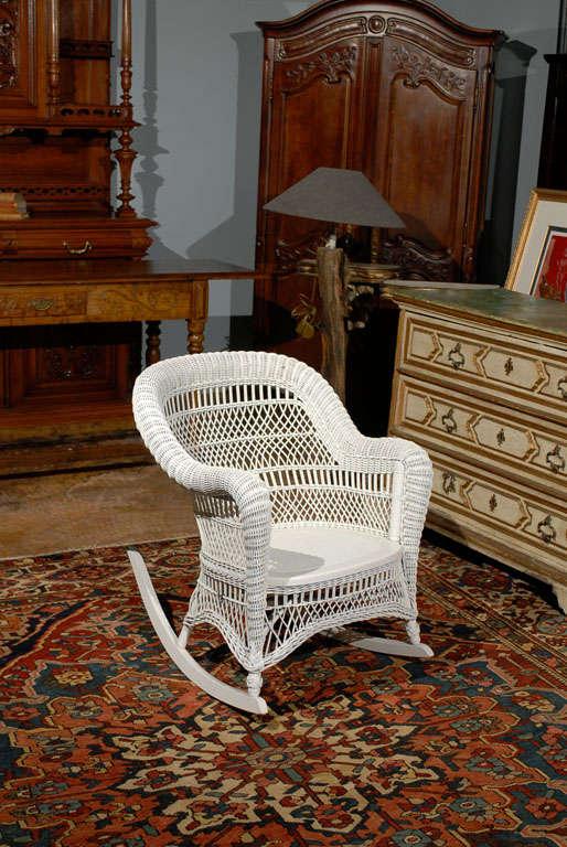 Heywood Wakefield Wicker Rocking Chair 6