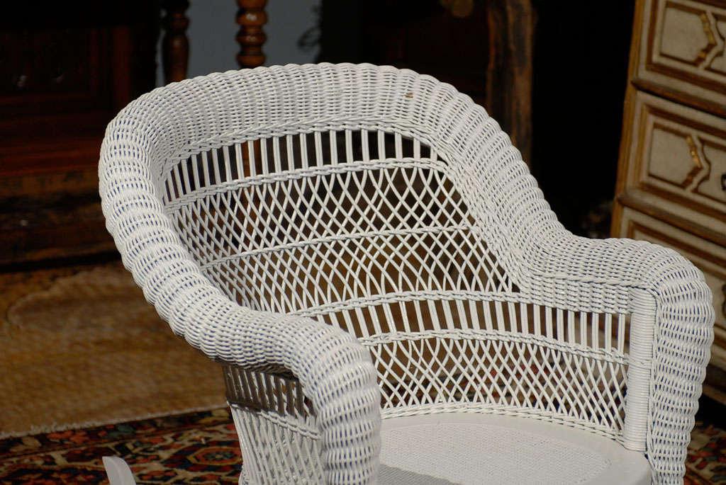 20th Century Heywood Wakefield Wicker Rocking Chair