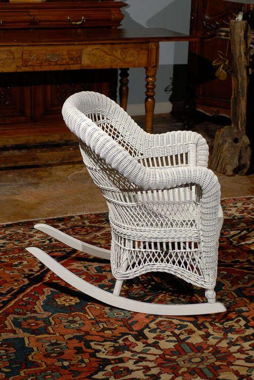 Heywood Wakefield Wicker Rocking Chair 1