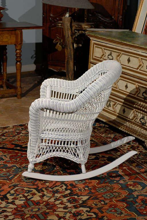 Heywood Wakefield Wicker Rocking Chair 3