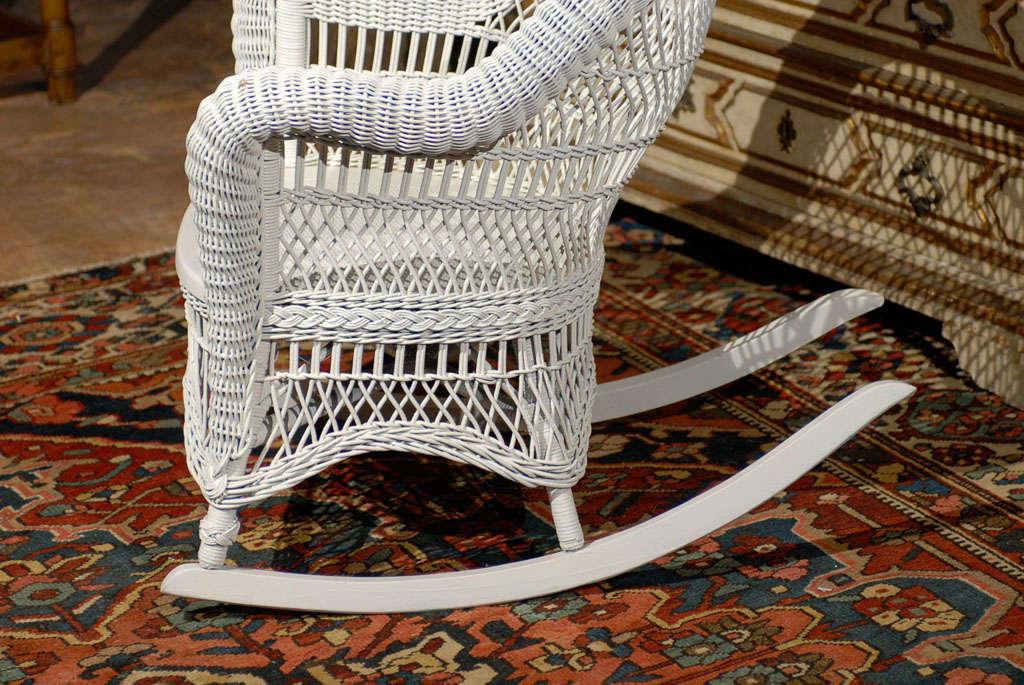 Heywood Wakefield Wicker Rocking Chair 4