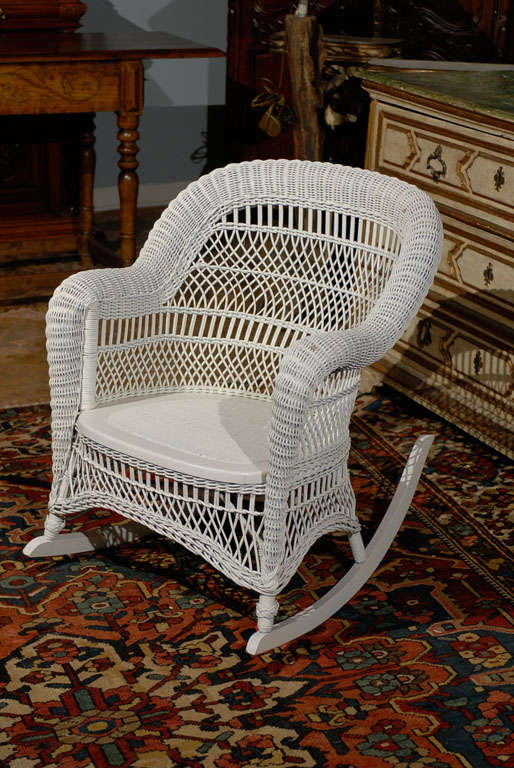 Heywood Wakefield Wicker Rocking Chair 5