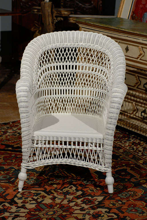 Heywood Wakefield Wicker Chair For Sale At 1stdibs