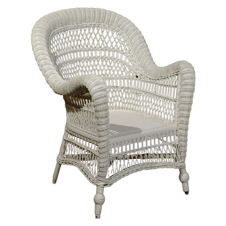 - Antique Heywood-Wakefield Wicker Armchair For Sale At 1stdibs