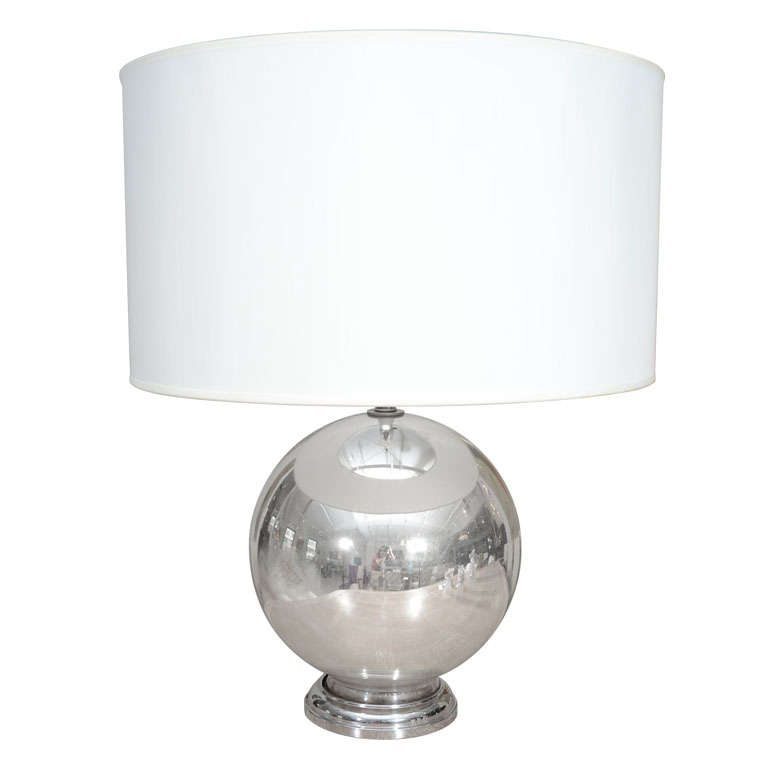 this vintage mercury glass globe table lamp is no longer available. Black Bedroom Furniture Sets. Home Design Ideas