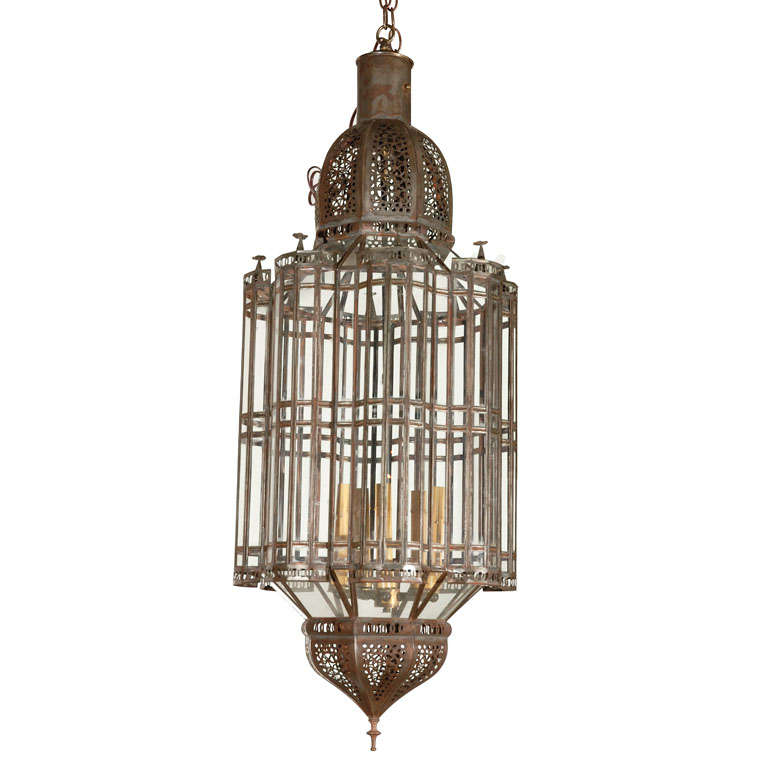Large scale moroccan pendant chandelier clear glass at 1stdibs - Moorish chandelier ...