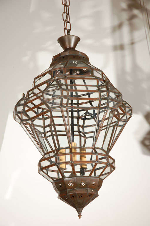 Granada Style Moroccan Clear Glass Pendant For Sale At 1stdibs
