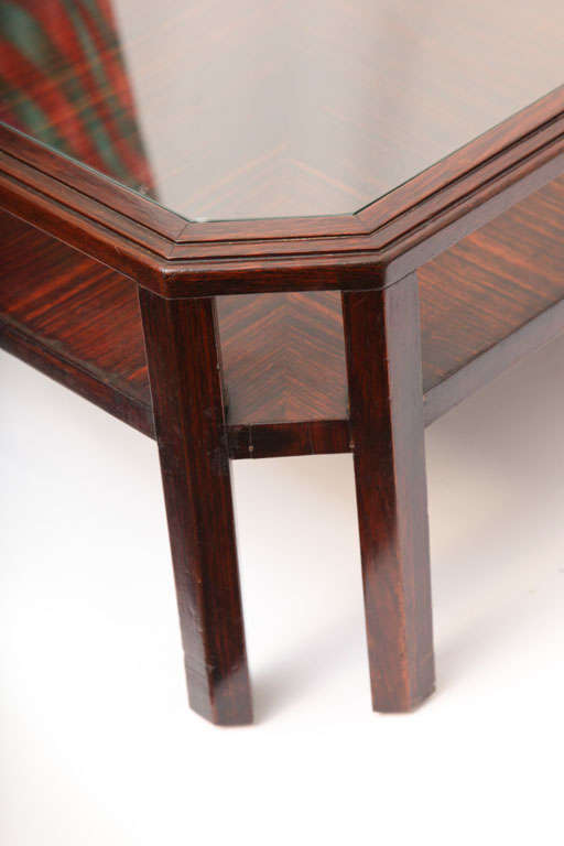 1920s French Modernist Macassar Ebony Low Table For Sale 1