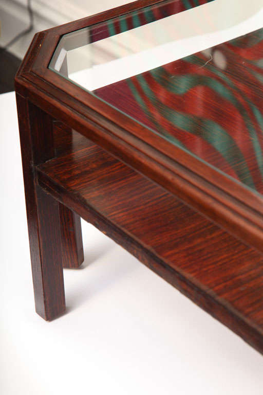 1920s French Modernist Macassar Ebony Low Table For Sale 2