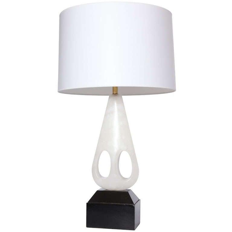 Italian 1950s Modernist Alabaster Table Lamp