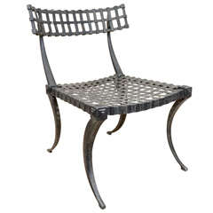 A Faux Bronze Klismos Chair