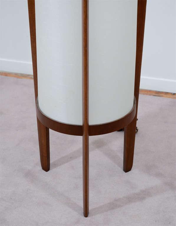 mid century danish modern teak floor lamp image 4. Black Bedroom Furniture Sets. Home Design Ideas