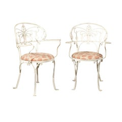 Early 20th Century American Painted Iron Garden Chairs
