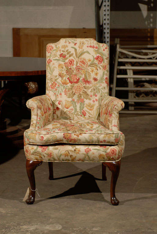 PAIR OF UPHOLSTERED HOST & HOSTESS CHAIRS For Sale 1