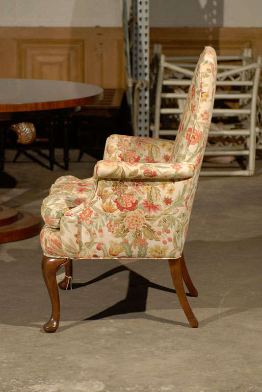 PAIR OF UPHOLSTERED HOST & HOSTESS CHAIRS For Sale 3