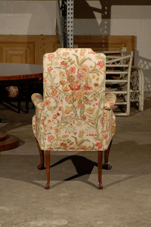 PAIR OF UPHOLSTERED HOST & HOSTESS CHAIRS For Sale 4